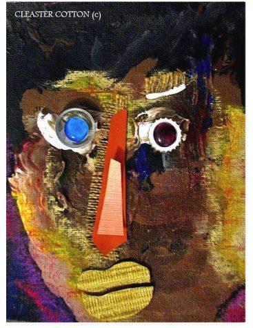 Portrait 1396 CLEASTER COTTON Contemporary Primitive (Pink Dog Exhibit - 2011)